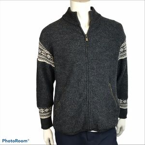 Nordic Designs Fair Isle Sleeve Full Zip Cardigan